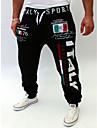 Bărbați Larg Talie Medie,Micro-elastic Pantaloni Chinos Pantaloni Imprimeu