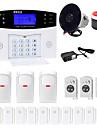 Danmini lcd wirless gsm / pstn acasă casa de birou de securitate anti-efracție sistem de alarmă