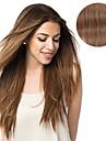 Klämma in Människohår förlängningar Mänskligt hår Rak 14 tum 18 tum