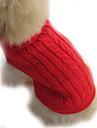 강아지 스웨터 강아지 의류 솔리드 브라운 레드 블루 코스츔 애완 동물