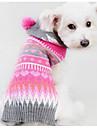 Chien Pull Vetements pour Chien Decontracte / Quotidien Mode Geometrique Fuchsia Costume Pour les animaux domestiques