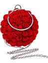 Femei geanta de seara poliester toate anotimpurile eveniment formal / partid nunta bowling floare incuietoare de blocare pinky rosu