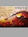 Dipinta a mano Astratto Panoramica orizzontale, Astratto Moderno/Contemporaneo Tela Hang-Dipinto ad olio Decorazioni per la casa Un