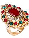Pentru femei Inel Inel de declarație Personalizat Lux Design Unic Vintage Bijuterii Statement Euramerican Modă Reșină Aliaj Rotund