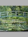 Pictat manual Peisaj Orizontal,Modern/Contemporan Clasic & Fără Vârstă Un Panou Canava Hang-pictate pictură în ulei For Pagina de decorare