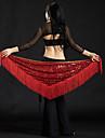 Belly Dance Hip Scarves Women\'s Performance Polyester Sequin Tassel Hip Scarf