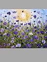 Pictat manual Floral/BotanicAbstract Modern/Contemporan Un Panou Canava Hang-pictate pictură în ulei For Pagina de decorare