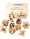 Puzzles en bois IQ Casse-Tete Casse-tete Chinois Cadenas Test de QI En bois Unisexe Cadeau