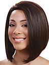 Syntetiska peruker Rak Bob-frisyr Densitet Utan lock Dam Svart Naturlig peruk Korta Syntetiskt hår