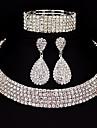 Pentru femei Set bijuterii - Clasic, De Bază Include Argintiu Pentru Cadouri de Crăciun / Nuntă / Petrecere / Ocazie specială / Aniversare / Zi de Naștere / Logodnă / Casual