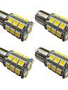 4pcs 1156 ba15s / bay15d 1157 3w LED lampă auto 27 smd 5050 lumină cârlig / frână / întors / stop lumină dc 12v alb / cald alb