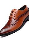 Bărbați Pantofi Piele reală Toate Sezoanele Confortabili Oxfords Pentru Casual Negru Maro Vișiniu