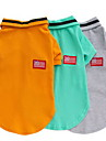 Chien Tee-shirt Vetements pour Chien Couleur Pleine Orange Gris Vert Coton Costume Pour les animaux domestiques Homme Decontracte /