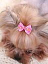 Hårtillbehör Hundkläder Gulligt Ledigt/vardag Mode Rosett Gul Fuchsia Röd Blå Rosa