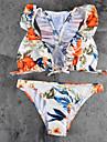 Dame Cu Susținere,Bikini Floral plunging răscroială Dantelat Floral