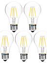 BRELONG® 5pcs 4W 300 lm LED-glödlampor A60(A19) 4 lysdioder COB Bimbar Varmvit Vit AC 200-240V