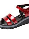 Damă Sandale Confortabili Sintetic Vară Casual Confortabili Toc Pană Negru Rosu Albastru 5 - 7 cm