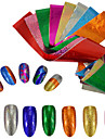 9pcs/set Nail Sticker Folieklistermärke Nail Stamping Mall Nail Art Design Glitter Nail Decals