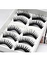 Eyelash Extensions False Eyelashes 10 pcs Lifted lashes Volumized Extra Long Fiber Daily Full Strip Lashes - Makeup Daily Makeup Cosmetic Grooming Supplies