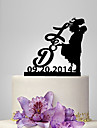 Vârfuri de Tort Temă Clasică / Persoane / Romantic Cuplu Clasic Plastic Nuntă / Aniversare cu 1 pcs Sac poli