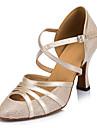 """Femme Modernes Similicuir Sandale Basket Professionnel Boucle Talon Aiguille Or Noir Argent 2 """"- 2 3/4"""" Personnalisables"""