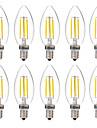 4W E14 Bec Filet LED C35 4 led-uri COB Decorativ Alb Cald Alb 350lm 2700-3200 6000-6500K AC 220-240V