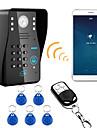 720p 무선 wifi rfid 비밀 번호 비디오 도어 전화 도어 벨 인터콤 시스템 나이트 비전 방수 카메라와 비가 커버