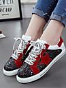 Damă Pantofi PU Primăvară Confortabili Adidași Pentru Casual Argintiu Rosu