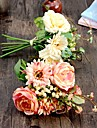 1 st. 1 Gren Silke Polyester Roser Bordsblomma Konstgjorda blommor