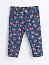 Fete Pantaloni Floral Bumbac Primăvară Toamnă Albastru piscină