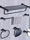 Badrumstillbehörsset Hög kvalitet Modern Metall 5pcs - Hotellbad Toalettborsthållare torn ring torn bar Toalettpappershållare Väggmonterad