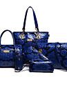 Dam Väskor Specialmaterial bag set 6 st handväska för Alla årstider Blå Svart Rubinrött Beige Purpur