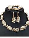 Pentru femei Brățări cu Lanț & Legături Cercei Picătură Lănțișoare Imitație de Perle Ștras Personalizat Lux Design Unic Clasic Boem De
