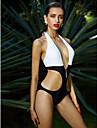 Femei Monokini Femei Cu Susținere Monocolor Ridicare Polyester