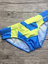 Bărbați Imprimeu Lenjerie Costume de Baie Albastru piscină