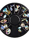 1 pcs Nail Smycken Klassisk / Chic och modern / Blank Moderiktig design Dagligen Nail Art Design
