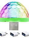 ywxlight® ywxlight® 5w mobil usb scenlampa dj-lampa ledde röstfärgad boll mini disco light sound control