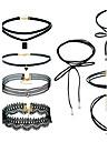 Pentru femei Seturi de bijuterii Coliere cu Pandativ negru cravată Stil Atârnat Euramerican stil minimalistMateriale Mixte Material