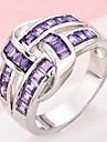 Pentru femei Montaje Inel Inel Band Ring Zirconiu Cubic , Diamant sintetic Mov Articole de ceramică Prinţesă neregulat Personalizat Lux