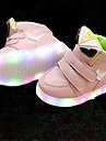 Fete Adidași Pantofi Usori Piele Imitație de Piele Primăvară Vară Toamnă Casual Plimbare Pantofi Usori Bandă Magică LED Toc JosAlb Negru