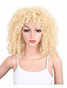 Perruque Synthetique Kinky Curly Cheveux Synthetiques Perruque afro-americaine Blond Perruque Femme Moyen Perruque Naturelle Sans bonnet