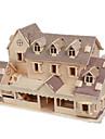 Quebra-Cabecas 3D Quebra-Cabeca Modelos de madeira Brinquedos de Montar Construcoes Famosas Casa Faca Voce Mesmo Madeira Classico Unisexo