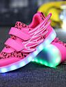 Fete Adidași Confortabili Noutăți Pantofi Usori Plasă de Aerisire Microfibre Primăvară Toamnă Casual Atletism LED Toc PlatAlb Fucsia