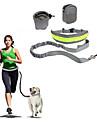 Câine Mâinile Leash Free Alunecare Reflexiv Portabil Pliabil Siguranță Mată Nailon Bumbac Negru Gri