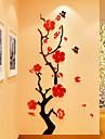 Floral/Botanic Romantic Perete Postituri 3D Acțibilduri de Perete Autocolante de Perete cu Cristale Autocolante de Perete Decorative 3D,