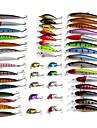48 pcs Esche rigide / Pesciolini / Confezioni di esche Esche rigide / Pesciolini / Confezioni di esche Plastica Pesca a mulinello / Pesca persico / Pesca con esca / Lenze trainate & Barchette