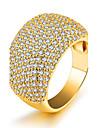 Pentru femei Band Ring Zirconiu Cubic Auriu Zirconiu Placat Auriu Circle Shape Lux Sexy Bling bling Bijuterii Statement Modă Petrecere Zi
