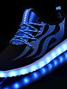 Unisex Pantofi Tul / Plasă Toamnă / Iarnă Pantofi Usori Adidași Toc Jos Vârf rotund LED pentru Negru / Alb / Albastru și Negru