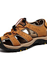 Bărbați Pantofi Nappa Leather Primăvară / Vară Confortabili Sandale Papuci de Apă Maro Deschis