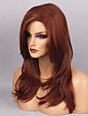 Syntetiska peruker Vågigt Naturligt vågigt Med lugg Densitet Utan lock Dam Röd Naturlig peruk Lång Syntetiskt hår
